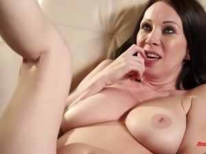 Giddy milf giving an erotic footjob before getting plowed hardcore