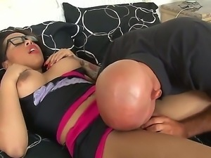 Dark haired and hot busty brunette shemale Nody Nadia enjoys in getting her...
