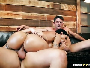 Keiran Lee pops out his love wand to fuck ultra hot Jewels Jades bum hole