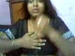 Indian chubby big breasted housewife lets her man suck her big boobies