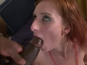 Taking the black dick deep into hairy pussy makes Nikitty so happy!