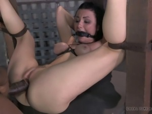 Being fucked by two randy masters is all a randy chick craves