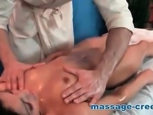 Petite oily brunette deep penetration