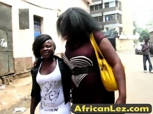 Curvy African broads pleasing their wet pussies