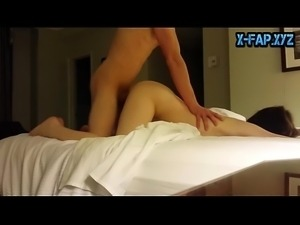 Brunette Student Getting Fucked By Her Horny Boy