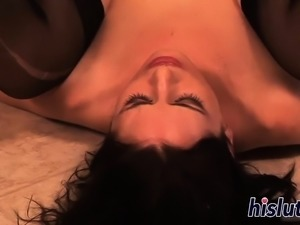 Raunchy BDSM sex with a kinky brunette