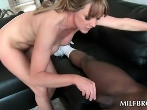 Black stud drilling MILF wet horny snatch