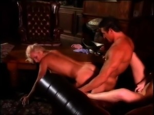 Adoring blondes make out before riding a hot stallion's big dick