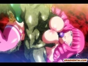 Bigboobs anime hard gangbanged