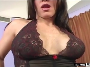 Being fucked by a stud is all a brunette craves to feel