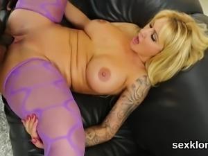 Pornstar sex kitten gets her anal banged with massive love s