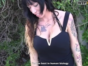 busty babe will do anything for some cash