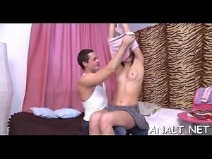 Orgasmic anal hammering