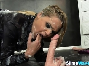 Glam gloryhole slut toys