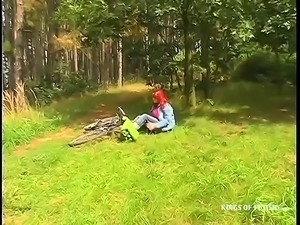 Bike Crash Leads to Outdoors Sex