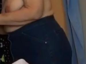BBW Wife Clair - In Jeans Puts Big Tits In Bra