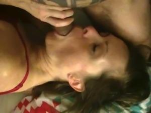 Cheating slut wife loves sucking cock
