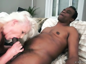 Mature with big tits gets satisfaction alone