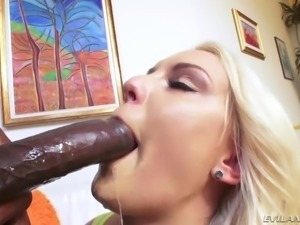 bbc destroyed her tight butt hole @ anal gapers club #02