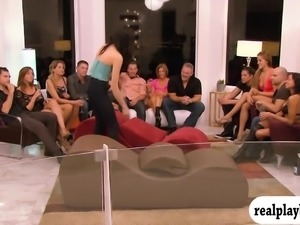 Swingers swap partners and nasty orgy in the bedroom