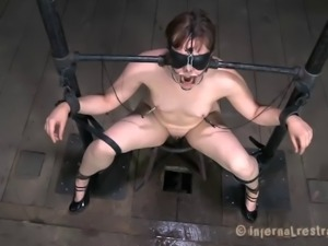 Babe with small tits treated like a sex slave for being a bad girl