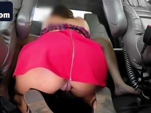 Brunette honey dress sucking big cock fake tow