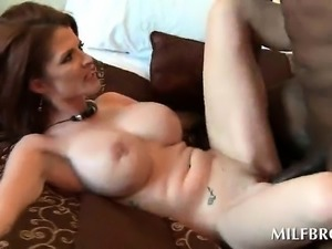 Chesty mom fucked hardcore by black stud