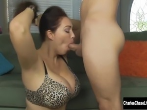 Charlee Chase Sucking Until She Gets Facialized