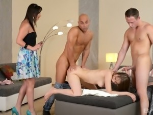 Sex obsessed nympho Beata Undine gets spit roasted like never before