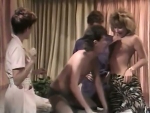 Just a freaky classic orgy with horny and hot white milfs