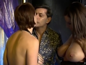 The most gorgeous pole-dancing babes having a threesome adventure