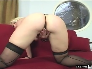 Solo action before getting fucked in doggy style by a black dong