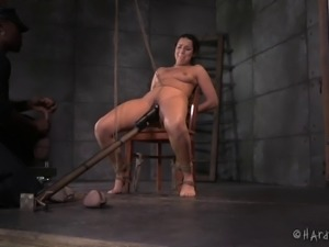 Jack is once again ready to have a BDSM session with another white gal