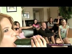 Group of naughty girls blowjob big cocks