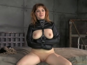 Tied slave juicy pussy getting fingered lovely in BDSM
