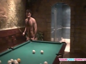 Sexy Brunette is back for Pool Table Fuck