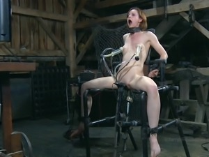Cowgirl in stockings face fucked in BDSM porn lovely