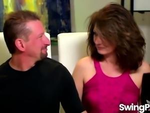Horny Mature Couple Swinging On Reality TV