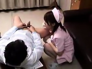Sultry Asian nurse fucks a hard cock and finds the pleasure