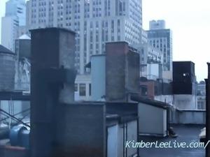 Teen Kimber Lee Catches Peeping Tom through Hotel Window!