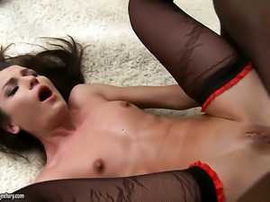 Teen is horny as hell and fucks