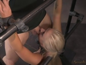 Good-looking blonde woman likes sucking on massive cocks fo her men