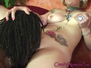 Candy Monroe gets fucked in her face and twat by a black stud