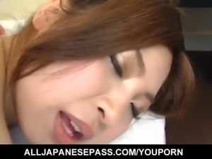 Anna Kousaka has big boobs touched and shaking during frigging