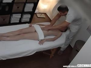 Super Slim Girl Getting Massage of Her Life