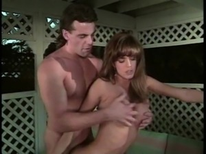 Vintage beauty gives a blowjob and gets a doggy style treatment