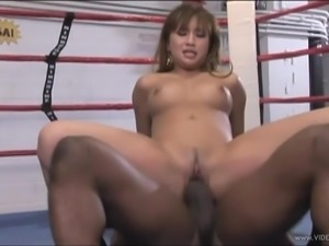 Delightful Asian pornstar with natural tits getting drilled hardcore in a...