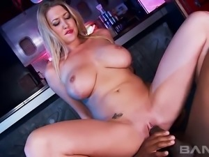 Lexi Lowe loves to impale herself on her lover's big black cock