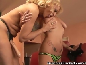 Lana Phoenix And Natasha Skinski Strapon Play