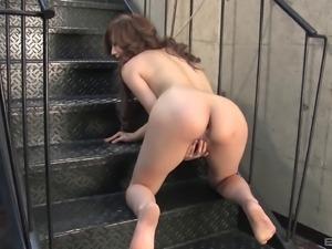 Aiko Nagai enjoys a kinky BDSM session with her master